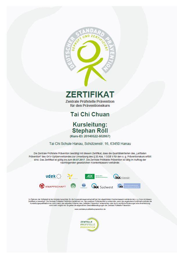 <br>Beispiel für ein ZPP Zertifikat