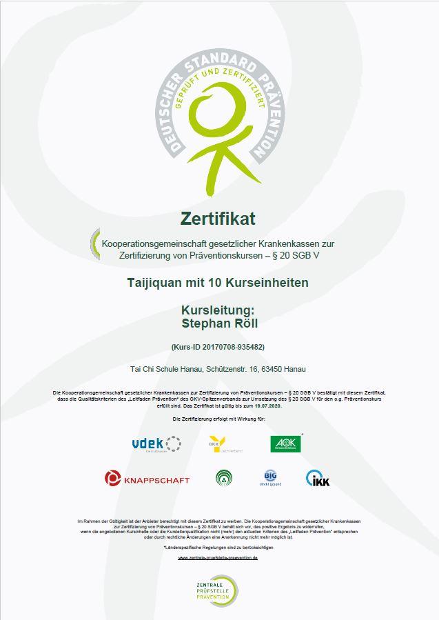 <br/>Zertifikat in klein